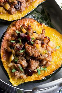 Some thoughts & recipes for Acorn Squash, in season now!