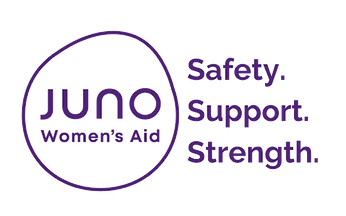 Juno Women's Aid Logo - Safety, Support, Strength