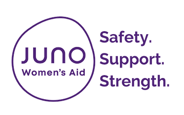 Juno Womens Aid Logo. Safety, Support, Strength