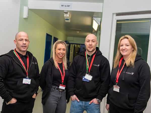 Inspire & Achieve team at Mansfield Police Station
