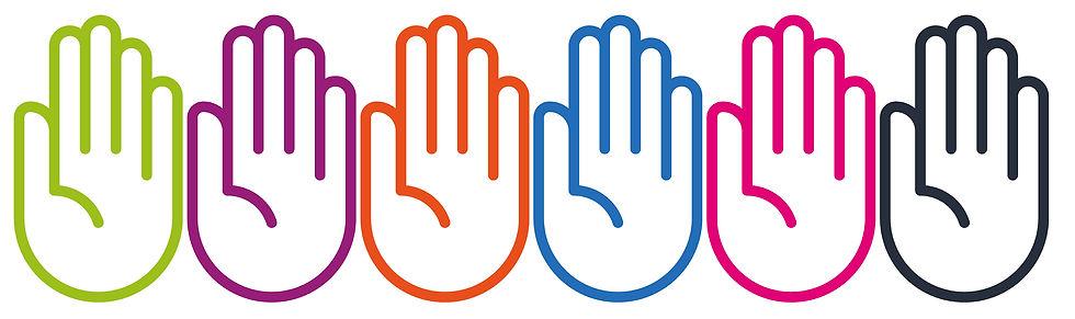 Border Background - Image of Hands outline