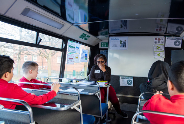 Inside the My Voice Bus