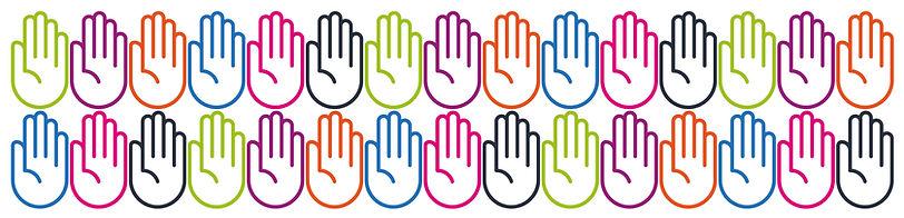 Colour Hands Header Banner Image