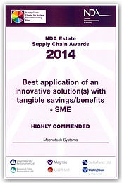 MechaTech Systems highly commended by the NDA