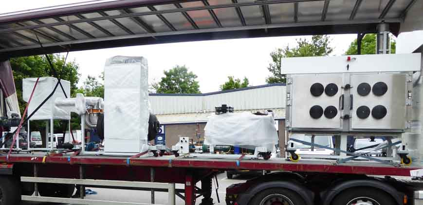 BioDry Vacuum Dryer being loaded for delivery