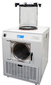 Lab Freeze Dryer with Ported Acrylic Chamber for Flask Drying