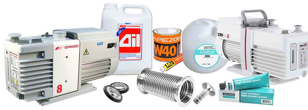 Vacuum pumps and spares - often available from stock