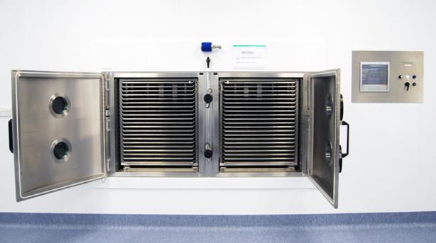 BioDry Vacuum Dryer has 42 temperature controlled shelves