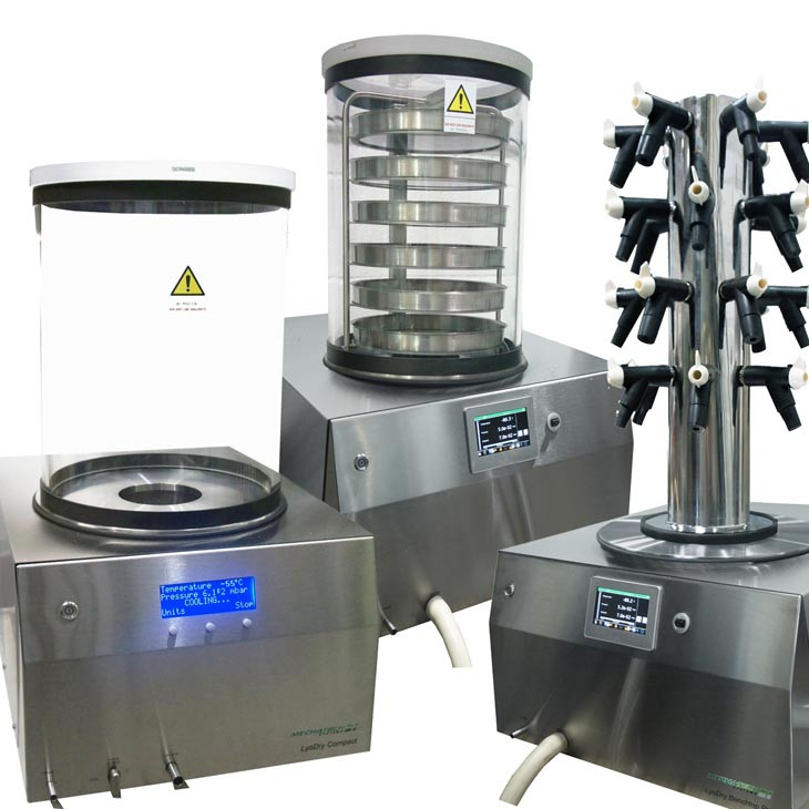 Many laboratory freeze dryers, such as the LyoDry Compact Benchtop Freeze Dryer, or LyoDry Benchtop Pro are modular i.e.you can choose the drying chamber.