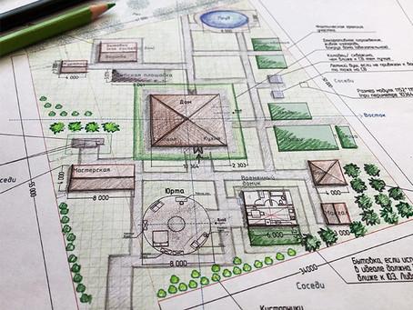 Планирование участка и проект временного домика