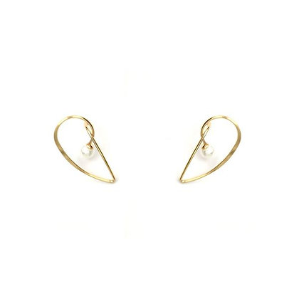 ROMAN Minimalism Chic Pierced Earrings