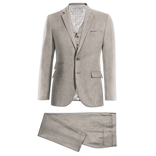 Custom Winter Tweed 3-Piece Suit with an edge