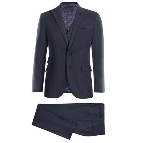 Oberon - A Navy Blue Wool 3-p Suit