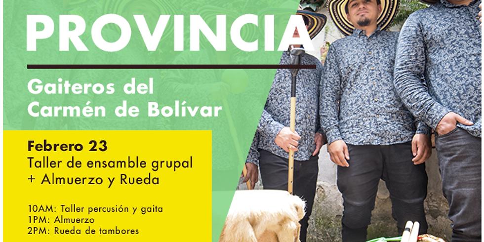 Taller con Son de la Provincia, gaiteros del Carmén de Bolívar