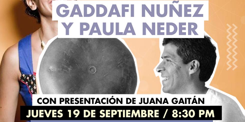 Música: Gaddafi Nuñez y Paula Neder en Concierto