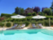 Panoramic pool at Villa Miramonti, Marche
