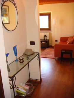 Rondine apt. hallway to living room