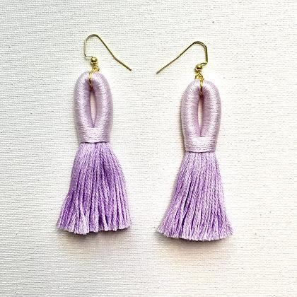 Pippa Tassel Earring in Lavender