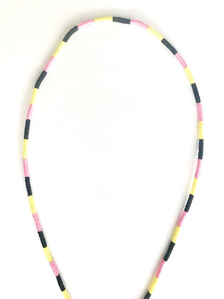 Black yellow pink mask chain