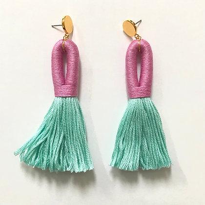Pippa Tassel Earring x Domestikated -Pink / Mint