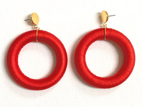 Luci Hoop in Red