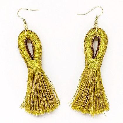 Pippa Tassel Earring in Gold