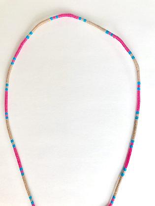 Pink blue beige mask chain