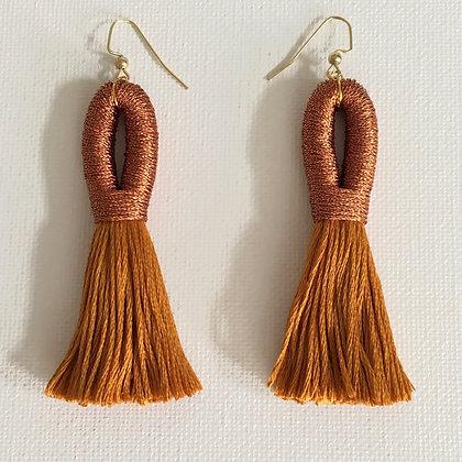 Pippa Tassel Earring in Copper