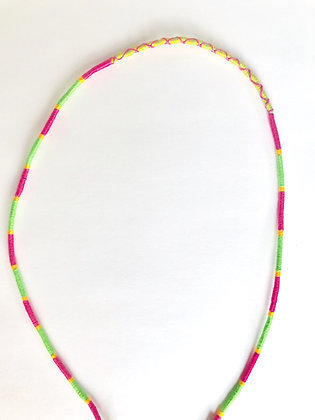 Green pink yellow mask chain