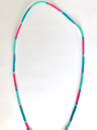 Pink teal mint mask chain