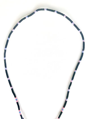 Black with pink and blue strips mask chain