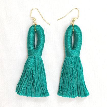 Pippa Tassel Earring in Turquoise