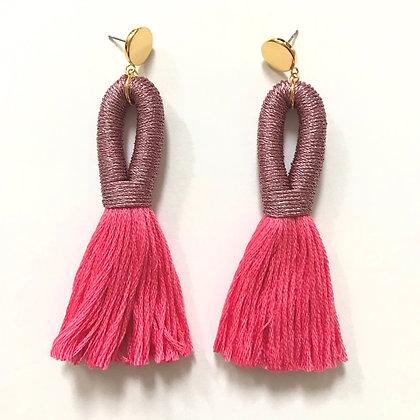 Pippa Tassel Earring x Domestikated -Pink