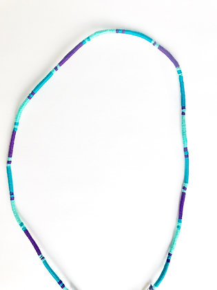 Purple teal mint mask chain