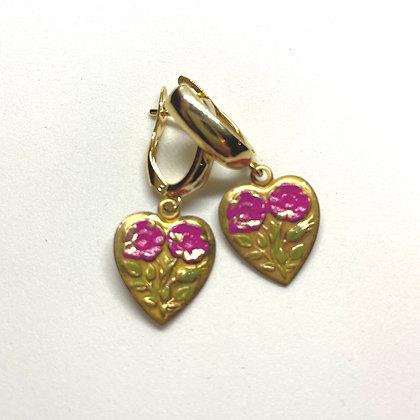 24k Love Earrings
