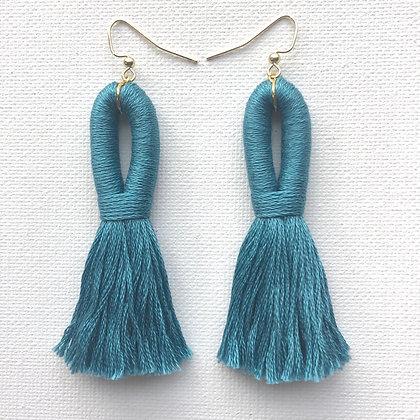 Pippa Tassel Earring in Blue