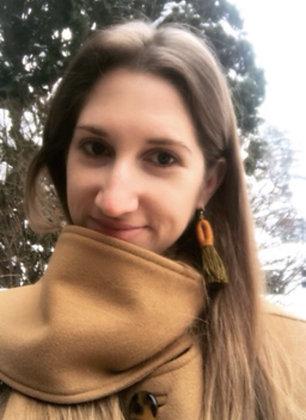 Pippa Tassel Earring in Brown/Green