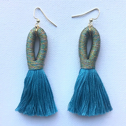Pippa Tassel Earring in Multi/Blue