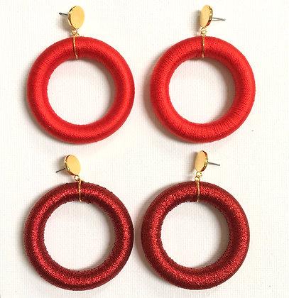 Luci Hoop in Metallic Red