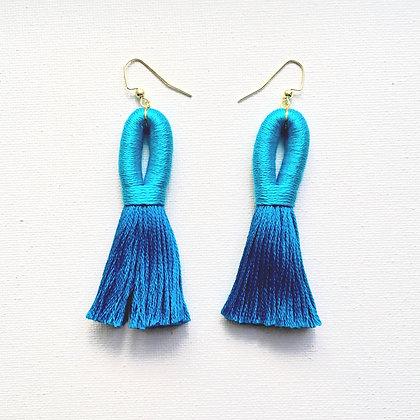 Pippa Tassel Earring in Turquoise/Azure