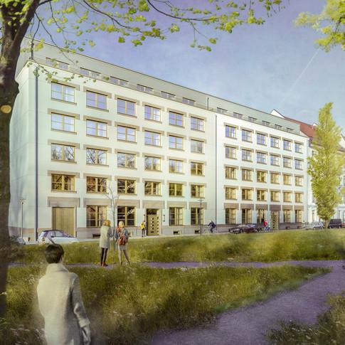 Jahrtausendfeld in Plagwitz, klm-Architekten