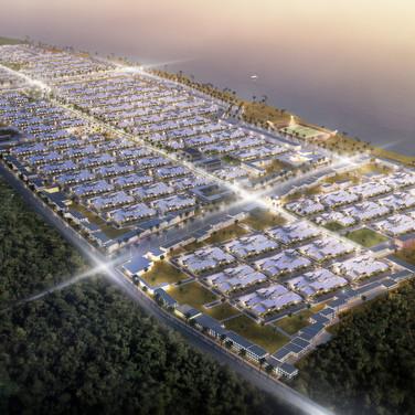 Neubausiedlung in Sansibar