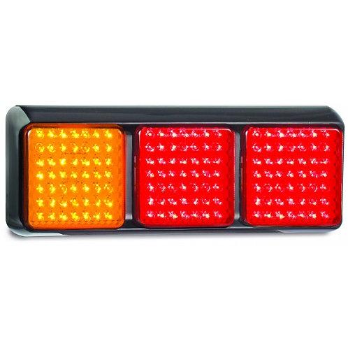 STOP / TAIL / INDICATOR 3LIGHTS 278X100MM - MULTI VOLT