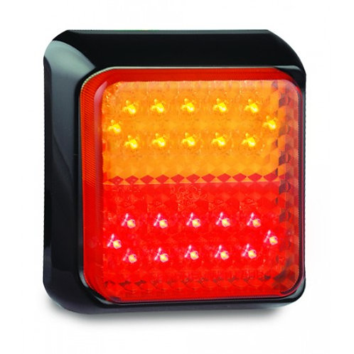 STOP / TAIL / INDICATOR 80MM SQ LED LIGHT
