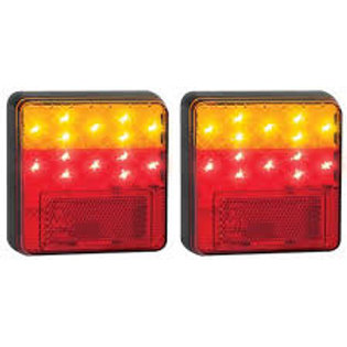 100MM STOP/TAIL/INDICATOR LED 12VOLT LIGHTS - PAIR