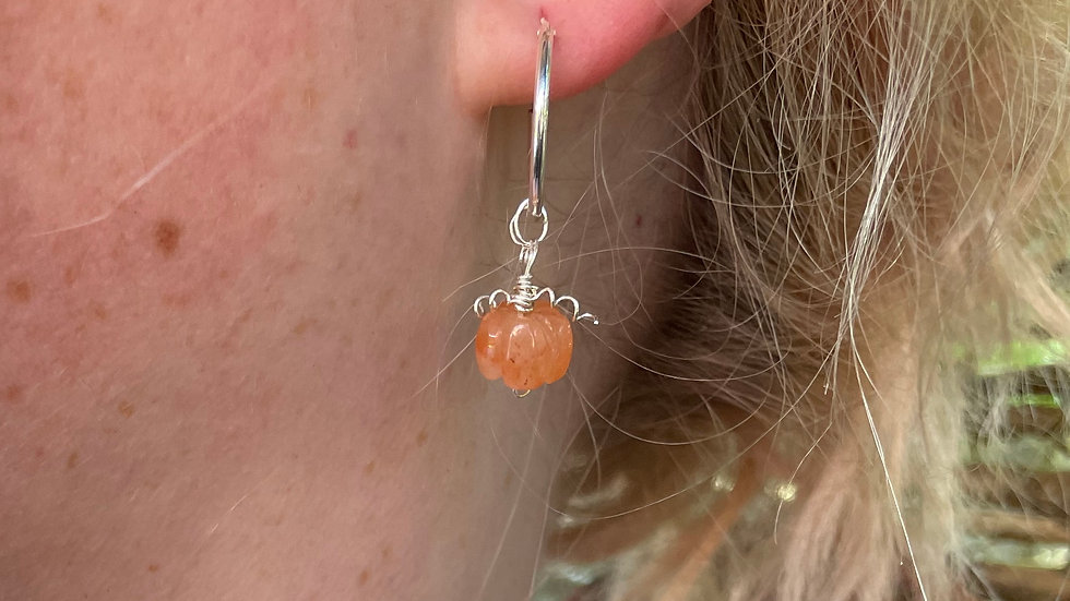 Orange Jade Pumpkin hoops