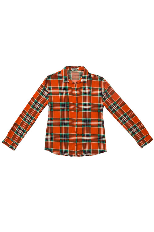 Рубашка в оранж клетку