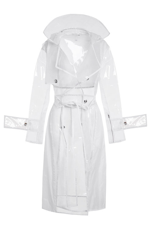 Lengthened white trench coat. €112