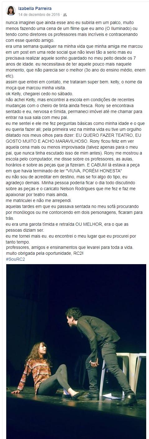 DEPOIMENTO - IZABELLA PARREIRA