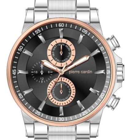 Pierre Cardin Men's Stainless Steel Multi-function Watch